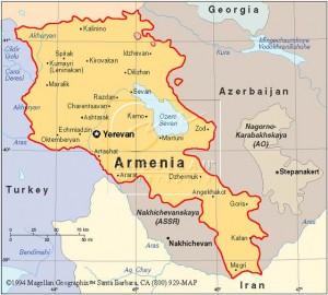 Mapa Armenia