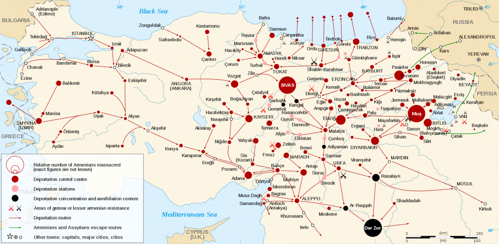Mapa del genocidio armenio