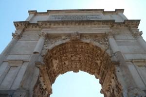 Arco de Tito. Detalle.