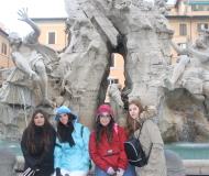 Fontana de los Ríos. Bernini. Piazza Navona. Roma